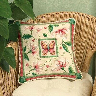 Dimensions D72-120021 Honeysuckle Butterfly Cushion Front/Picture Tapestry Kit
