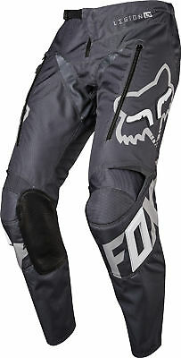Fox Racing Mens Charcoal Grey/Silver Legion LT Offroad Dirt Bike Pants Enduro