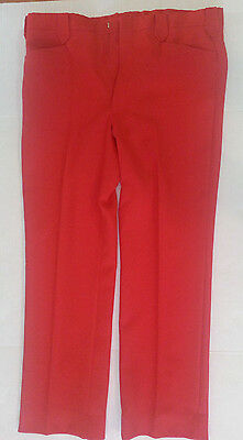 Red Square dance Pants  Texas Mesquite Western Wear Sz 37 38x30USA Vintage
