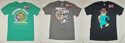 Disney Mens Augmented Reality T-Shirts Agent P Platypus and Muppets Sizes S or M