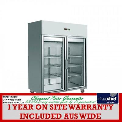 FED GRAND ULTRA Double glass door upright gn Freezer GASTRONORM 1470L GN1410BTG