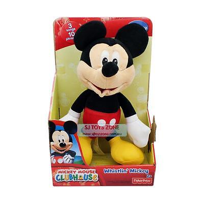 Disney Whistling Mickey Mouse Songs & Phrases Soft Toy Stuffed Plush Doll 12''