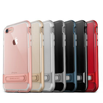 For Apple iPhone 8/Plus 7/Plus Case VRS®️ [Crystal Bumper] Clear Kickstand Cover