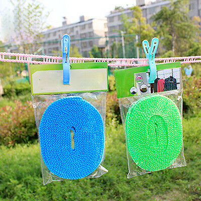 3M Windproof Antiskid Clothesline Clothes Rope Washing Line Fence Nylon Travel