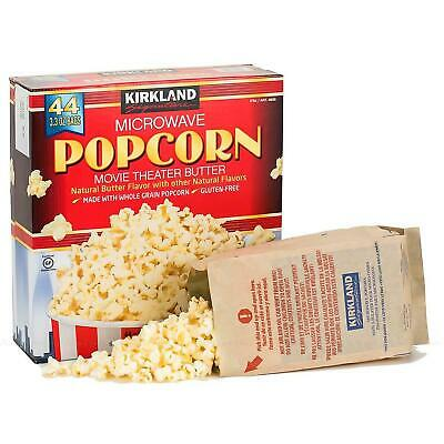 Kirkland Signature Microwave Popcorn Movie Theater Butter Natural 44 Bags 4.10Kg