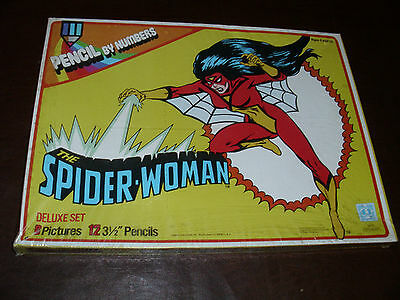 Vintage Spider-Woman Giant Pencil By Numbers Hasbro Avenger Marvelmania MIB 1979