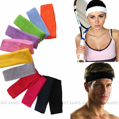 Fashion Women Men Sport Sweatband Headband Yoga Gym Stretch Basketball Hair Band