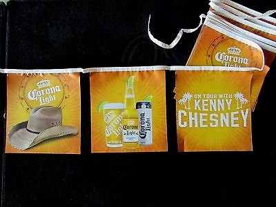 NEW Corona Light Kenny Chesney Country Beer Party String Banner Flag cd B8 Hat