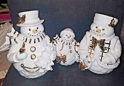 Traditions 3 Piece Porcelain Snowman Family