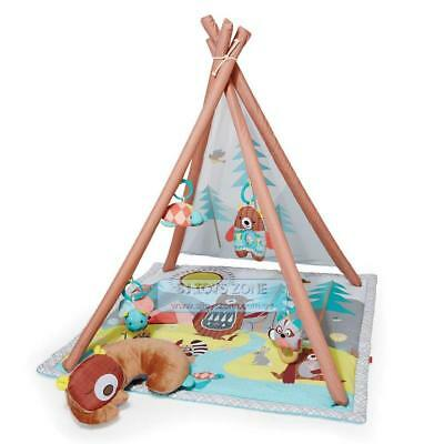 Skip Hop Camping Cubs Baby Play Activity Gym Playmat Rattle Teether Toys Mirror
