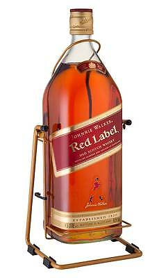Johnnie Walker Red Label Scotch Whisky & Cradle 4.5 Litres (Boxed)