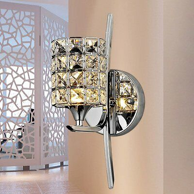 Modern Simple Style Crystal LED Wall Lamp Bedroom Wall Sconce Light Fitting