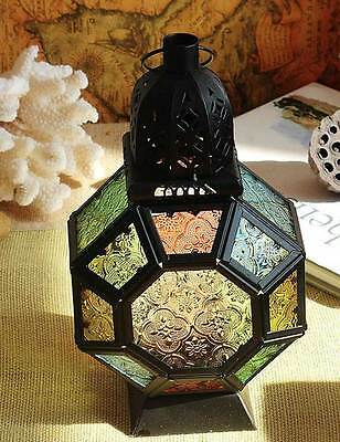 Good Color Glass Moroccan Delight Garden Decoration Candle Table/Hanging Lantern
