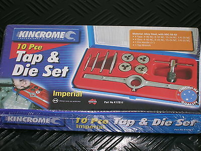 New Kincome 10 Piece Imperial Tap & Die Set #K12011