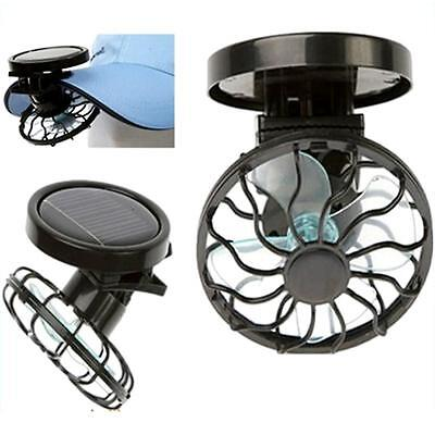 Summer Portable Mini Clip-on Solar Power Panel Cooling Cell Fan Cooler for Beach