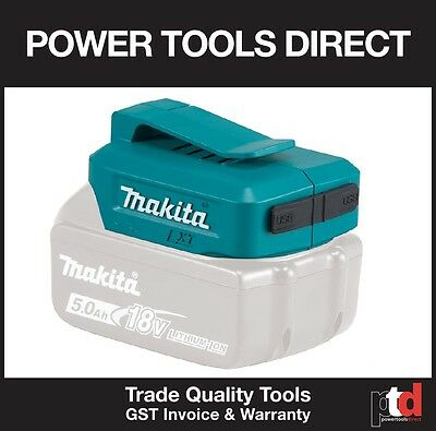 NEW MAKITA 18V CORDLESS ADP05 POWER ADAPTOR USB BATTERY CHARGER (2 x USB INPUTS)