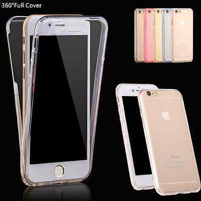 360°Shockproof Silicone TPU Clear Full  Case Cover for Apple iPhone 7 7 Plus