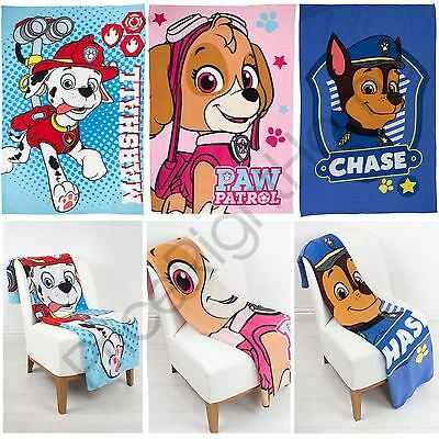 Paw Patrol Fleece Blankets Skye Chase Marshall New Childrens Official Free P+P