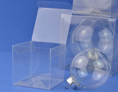 10 Acetate Square Box Presentation Boxes for Baubles 60 x 60x 60mm