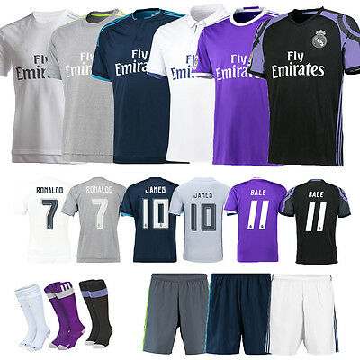 Football Soccer Jersey Short Sleeve Training Kits Kids Boy Sportwear Suit+Socks