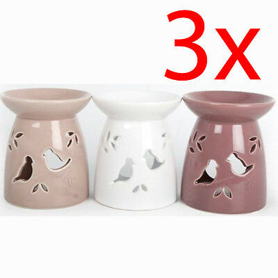 3 X Bird Oil Burner Wax Tealight Candle Tarts Cake Melts Granules Simmering New