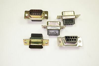 Lot of 3 205204-1 AMP D Sub Connector Plug Size 1 9 Position NOS