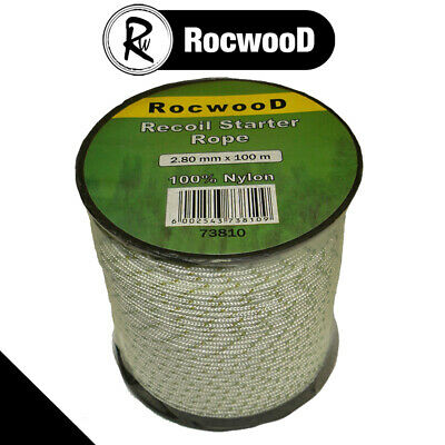 2.8mm x 100 Metres Starter, Recoil Pull Cord, Rope