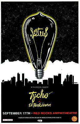 LOTUS w Tycho Sep. 17, 2016 Red Rocks, Colorado 11x17 Concert Flyer / Gig Poster
