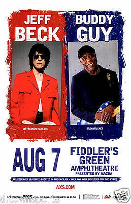 JEFF BECK & BUDDY GUY 2016 - Fiddlers Green Denver Concert Flyer / Gig Poster