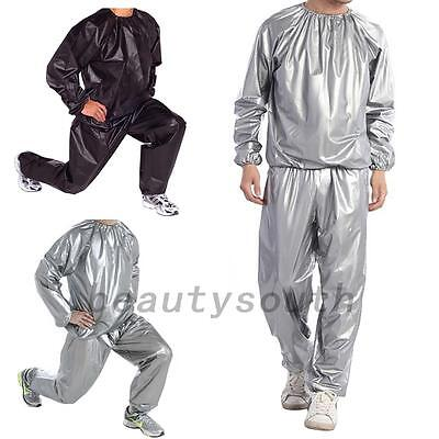 Sweat Track Sauna Suit Sports Fitness Slimming Running Exercise Training L-5XL