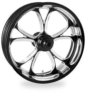 Performance Black Platinum 21x3.5 Front Single Disc Side Luxe Wheel Harley 08-16