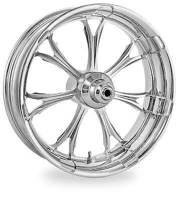 PM Chrome 26x3.5 Front Single Disc Side Paramount Wheel Harley FLH W/ ABS