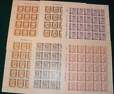 Liberia # 347-49 C88-90 MNH Sheets Complete 1955 Sports Issue