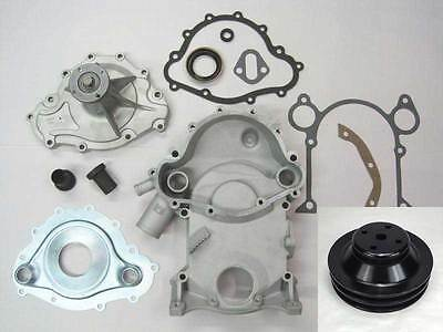 Butler Performance 11-Bolt Conversion Timing Cover Kit w/High Flow Water Pump