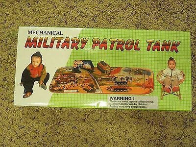 Mechanical Military Patrol Tank Wind Up Toy Replica W/ Box From Lucky Toys India