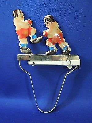 2 Boxers Boxing Fighting Squeeze Tin Toy Replica