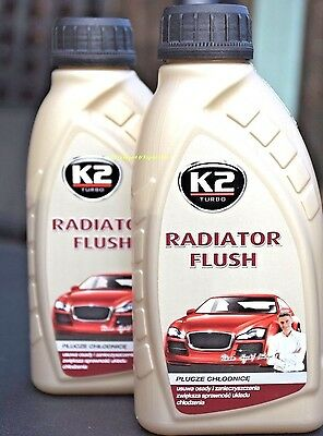 2x RADIATOR FLUSH CLEANER Rad IMPROVES COOLING SYSTEM 400ml Made in EU