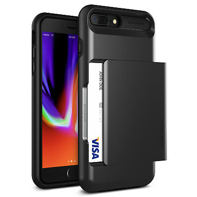 For Apple iPhone 8/Plus, 7/Plus Case VRS® [Damda Glide] Slim Card Wallet Cover
