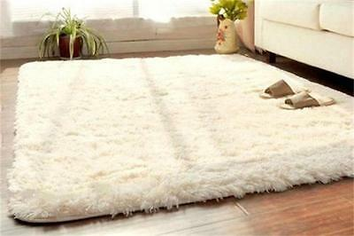 Beige Soft Fluffy Rugs Anti-Skid Shaggy Rug Living Room Carpet Floor Mat