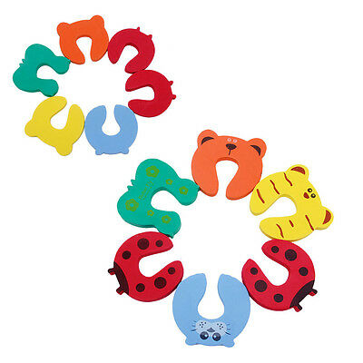 6Pcs Baby Pinch Finger Guard Jammer Lock Stopper Protector Safety Door Stop New