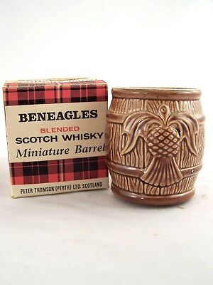 Miniature circa 1982 BENEAGLES SCOTCH WHISKY CERAMIC BARREL Isle of Wine