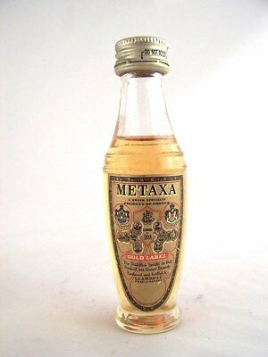Miniature circa 1979 METAXA GOLD LABEL BRANDY Isle of Wine