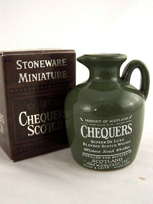Miniature circa 1974 CHEQUERS SCOTCH WHISKY CREAMIC JUG Isle of Wine