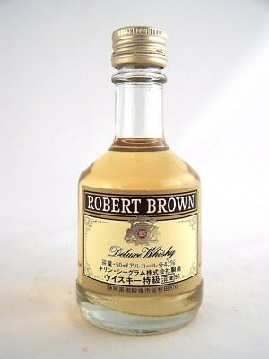Miniature circa 1996 ROBERT BROWN DEUXE JAPANESE Whisky Isle of Wine