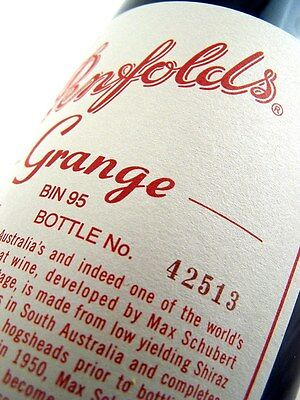 2003 PENFOLDS Bin 95 GRANGE Shiraz BOTTLE No 42513 Isle of Wine
