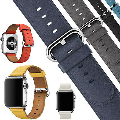 Fashion Genuine Leather Band Bracelet Strap Watchband For Apple Watch 38m/42mm