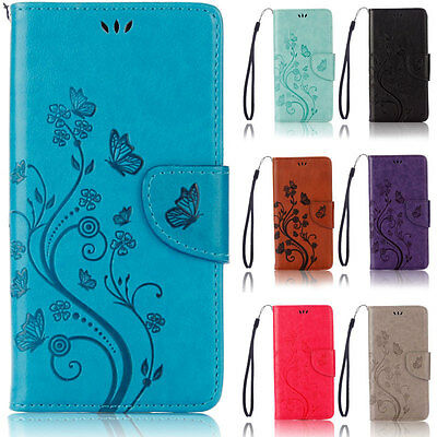 Butterfly Wallet Flip Case Cover For Samsung Galaxy Grand Neo Plus i9060 i9082