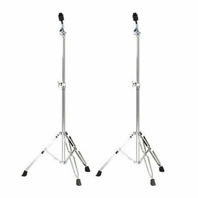 2 X Cymbal Stands Straight Double Braced Heavy Duty DP Percussion CB3450