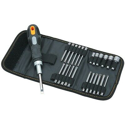 Ratcheting Screwdriver Set, 26 Pc with Nylon Carrying Case
