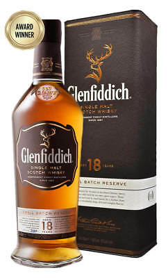Glenfiddich 18YO Single Malt Scotch Whisky (700ml Boxed)